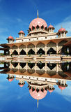 Putrajaya Mosque, Kuala Lumpur Malaysia. Manipulated image of Mosque located in Putrajaya Kuala Lumpur Stock Photography