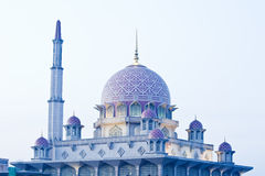 Putrajaya Mosque Malaysia. Picture showing domes and minaret of Putrajaya mosque Malaysia Royalty Free Stock Photo