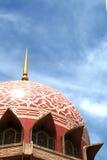 Putrajaya mosque, Malaysia. Dome of Putrajaya mosque in sky blue background Royalty Free Stock Image