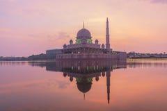 Putrajaya Mosque Malaysia in Twilight time. Stock Photos