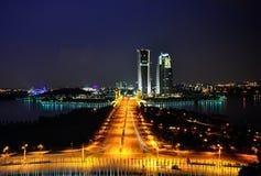 Putrajaya på natten Arkivfoto