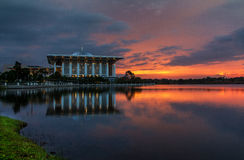 Putrajaya stålmoské Royaltyfria Foton