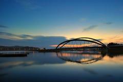Putrajaya tama podczas wschodu słońca Fotografia Stock