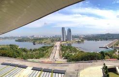 Putrajaya wagonu sypialnego brzeg jeziora Zdjęcie Royalty Free