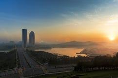 Putrajaya wschód słońca Fotografia Stock
