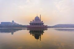 Putramoskee, Putrajaya, Maleisië stock fotografie