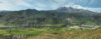 Putre village with. Nevado de Putre at background, Chile Stock Images