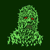 Putrid head of zombie. Vector illustration. Stock Photography