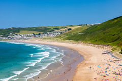 Putsborough piaski Devon Anglia UK Europa zdjęcia stock