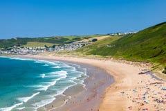 Putsborough sandpapprar Devon England UK Europa arkivfoton