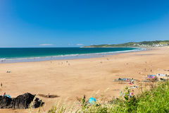 Putsborough sandpapprar Devon England UK Europa fotografering för bildbyråer