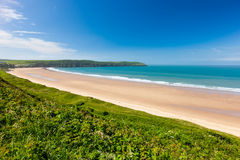 Putsborough Sands from Woolacombe Warren Devon England stock photography