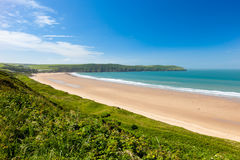 Putsborough Sands from Woolacombe Warren Devon England Stock Image