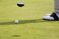 Putt. Golf putt Royalty Free Stock Photography