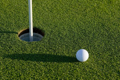 Putt court de golf Images libres de droits