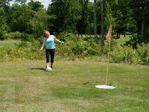 Putt de golf de pied photo stock