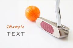 Putt del golf Imágenes de archivo libres de regalías