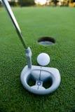 Putt di golf Fotografia Stock Libera da Diritti