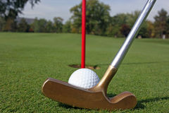 Putt di golf Immagini Stock