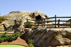Putt Golf. Recreational golf course for fun,relaxation and leisure activity stock photography