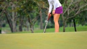 Putt Golf ball. stock video footage