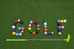 Free Putt Putt Balls Spell Golf Stock Photo - 117606220