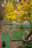 Putt putt course in autumn. Royalty Free Stock Photos