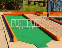 Putt Putt Mini Golf Course Stock Image