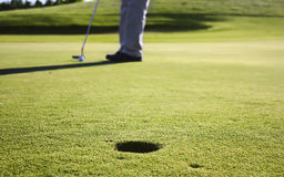 Putt shot Royalty Free Stock Image