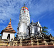 Puttaisawan寺庙的普朗在阿尤特拉利夫雷斯,泰国 免版税图库摄影