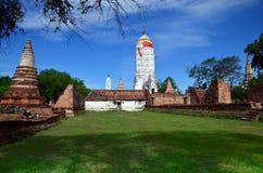 Puttaisawan寺庙的普朗在阿尤特拉利夫雷斯,泰国 免版税库存照片