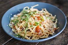 Puttanesca d'alla de spaghetti Image libre de droits