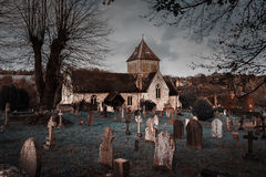 Puttenham圣约翰施洗约翰教堂Helloween样式在英国 库存图片