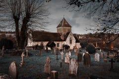 Puttenham St John the Baptist church Helloween style in England Stock Image