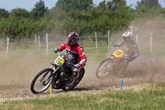 Solo grasstrack racing Stock Images