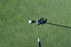 Putter and ball Stock Photography