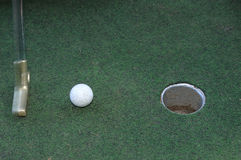 Putter and ball Royalty Free Stock Photography