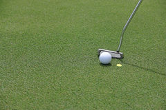 Putter and ball Royalty Free Stock Photo