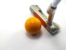 PUTTER AND BALL Stock Images