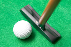 Putter de golf Photographie stock libre de droits