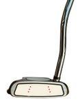 Putter del club di golf su fondo bianco Fotografie Stock Libere da Diritti