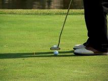Putter del golf Fotografía de archivo libre de regalías