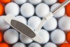 Putter et billes de golf Image libre de droits