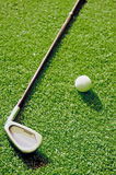 Putter and golf ball Royalty Free Stock Photography