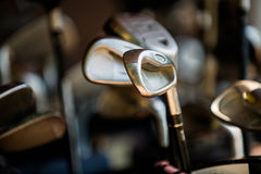 Putter golf course close-up Royalty Free Stock Images