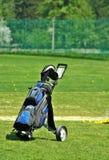 Putters no saco de golfe Fotos de Stock