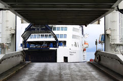 Puttgarden口岸的,德国渡船码头 库存照片