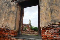 Putthaisawan寺庙阿尤特拉利夫雷斯,泰国 库存图片