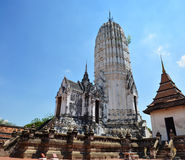 Putthaisawan寺庙阿尤特拉利夫雷斯,泰国 免版税库存图片