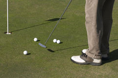 Putting. Practice royalty free stock image